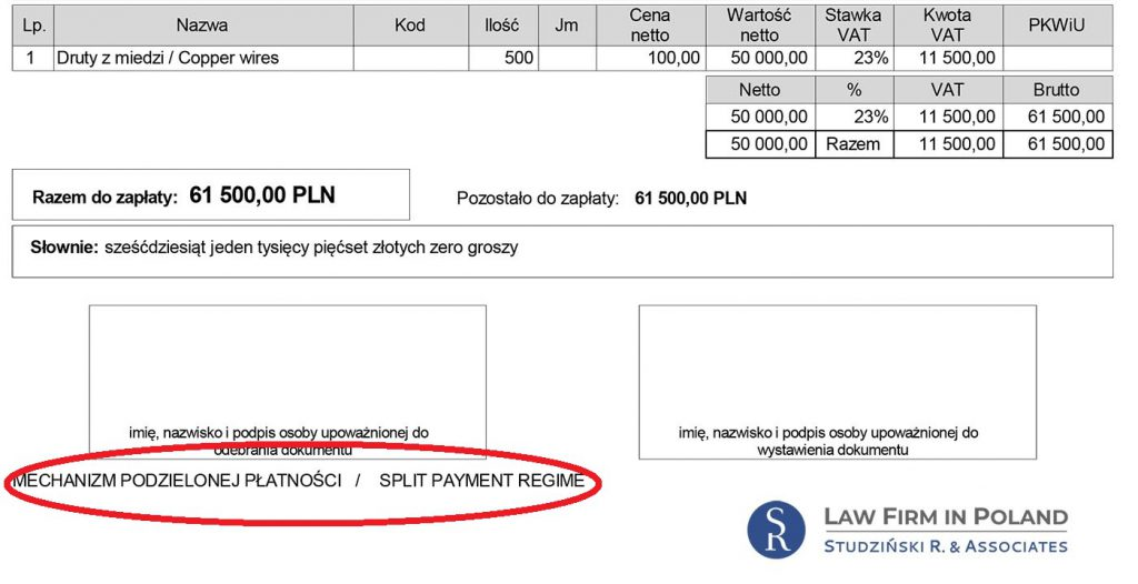 Split payment in Poland