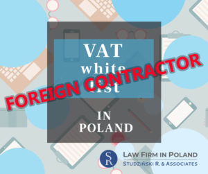 Polish VAT list and foreign contractor