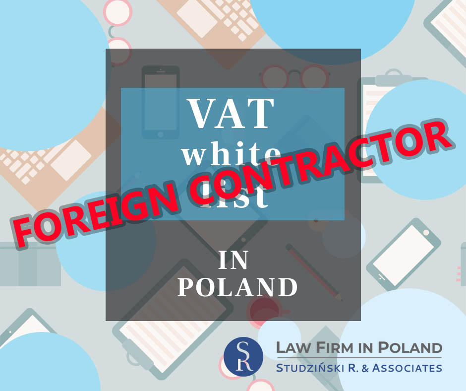 Polish VAT White list and foreign contractor