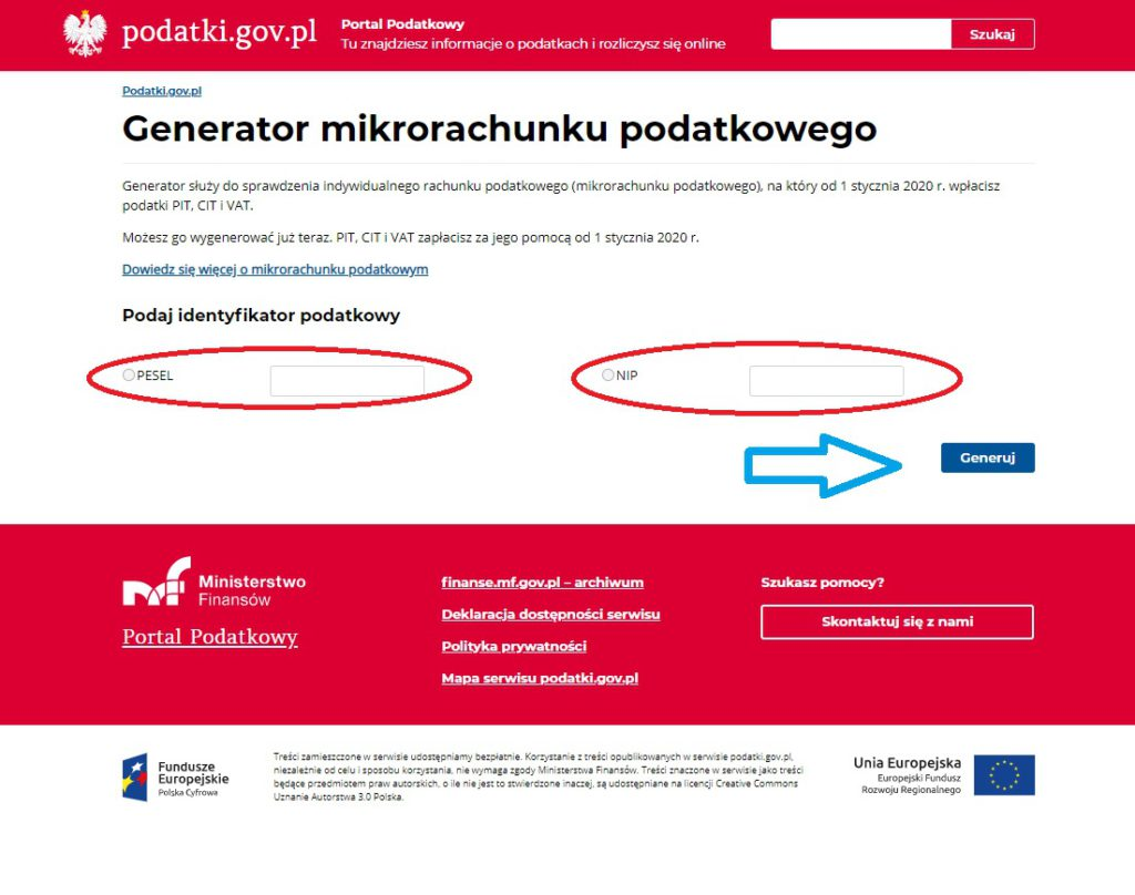 Tax micro account in Poland
