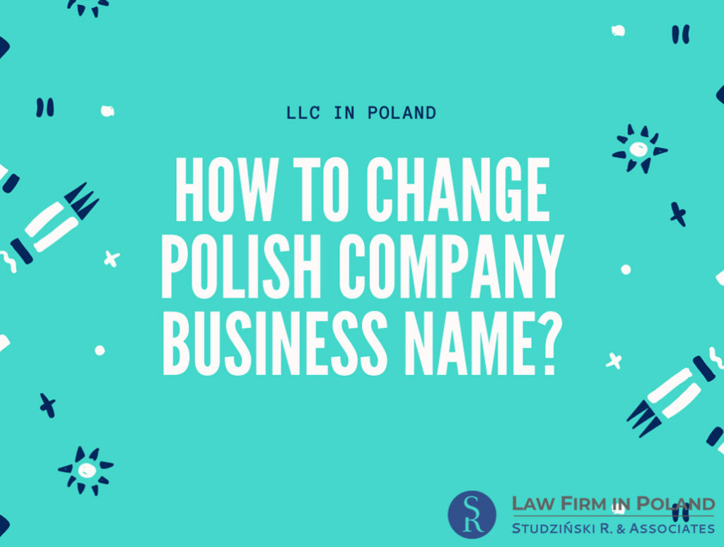 Changes to the name of company in Poland